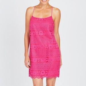 1. State Pink Lace Mini Dress Size Small